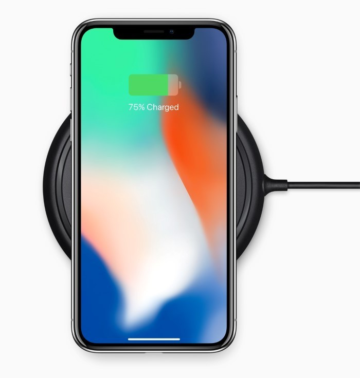 iPhone X supports wireless charging
