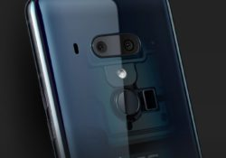 The translucent blue of hTC U12+ gives you a chance for a deep stare for its inner and outer beauty.